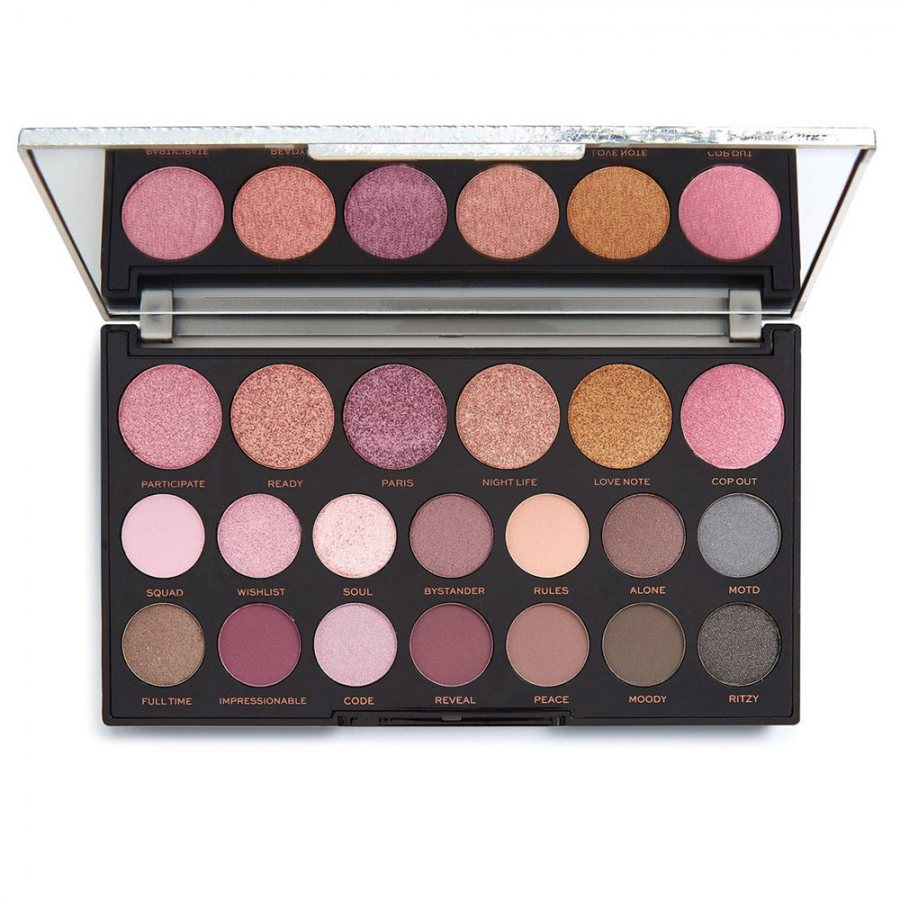Makeup revolution jewel collection eyeshadow palette in gilded