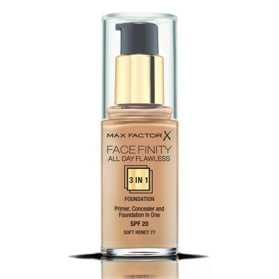 Max Factor Facefinity All Day Flawless 3 In 1 Foundation 77 Soft Honey 30ml